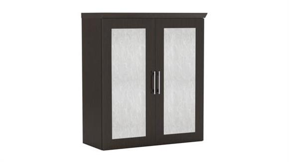 "Storage Cabinets Mayline Office Furniture Above Surface 36"" Storage Cabinet with Acrylic Doors"