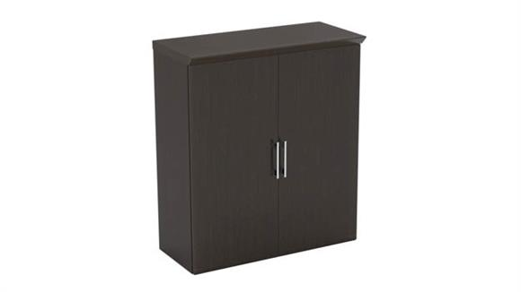 """Storage Cabinets Mayline Office Furniture Above Surface 36"""" Storage Cabinet with Wood Doors"""