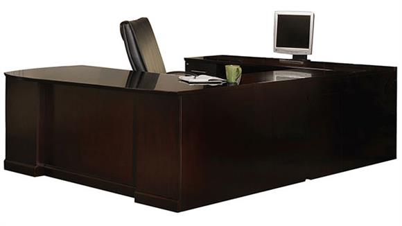 U Shaped Desks Mayline Office Furniture Double Pedestal U Shaped Desk