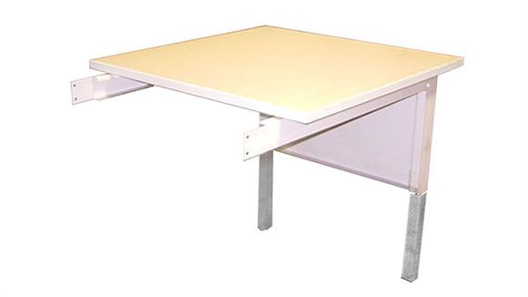 """General Tables Mayline Office Furniture 30""""W Adjustable Height Work Table Extension"""