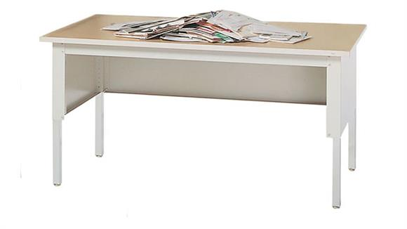 """General Tables Mayline Office Furniture 60""""W Adjustable Height Work Table"""