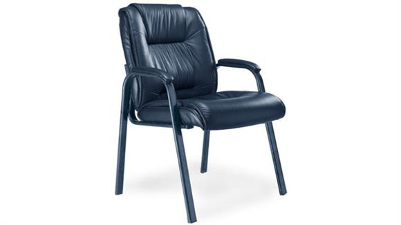 Side & Guest Chairs Mayline Office Furniture Deluxe High-Back Guest Chair