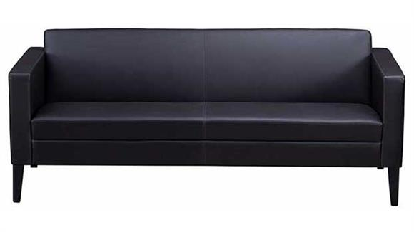 Sofas Mayline Office Furniture Prestige Top Grain Leather Sofa