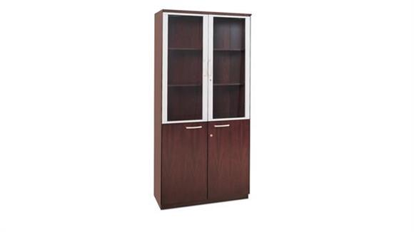 Storage Cabinets Mayline Office Furniture High Wall Cabinet with Doors