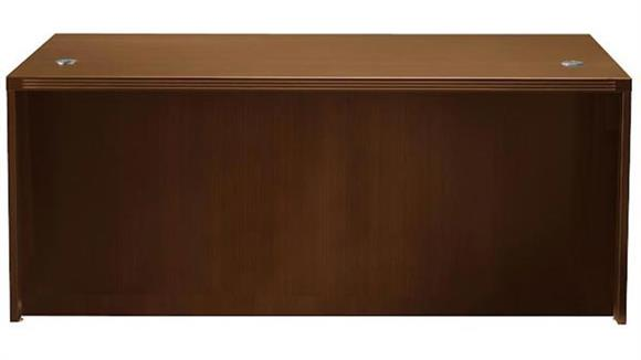 "Executive Desks Mayline Office Furniture 66"" x 30"" Desk with Full Pedestals"
