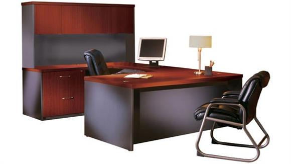 U Shaped Desks Mayline Office Furniture U Shaped Desk with Hutch