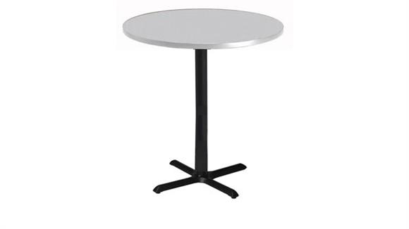 "Conference Tables Mayline Office Furniture 36"" Round Bar Height Conference Table"
