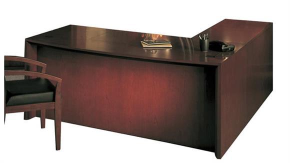 """L Shaped Desks Mayline Office Furniture 72"""" L Shaped Bow Front Desk"""