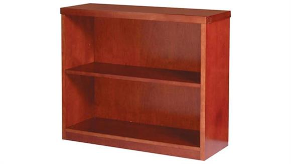 "Bookcases Mayline Office Furniture 29"" Wood Veneer Bookcase"