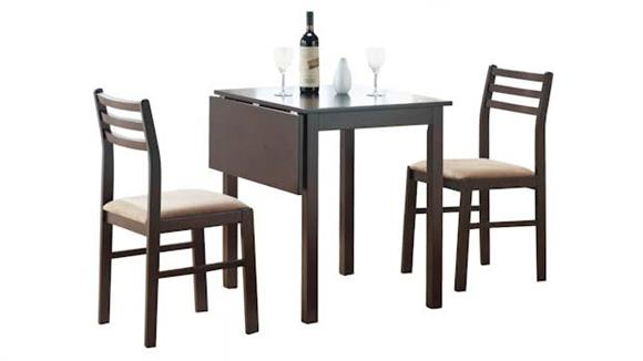Dining Tables & Sets Monarch Cappuccino 3 Piece Drop Leaf Dining Set