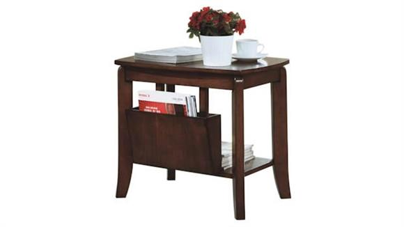 Accent Tables Monarch Walnut Magazine Table