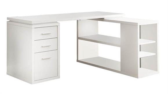 L Shaped Desks Monarch L Shaped Computer Desk