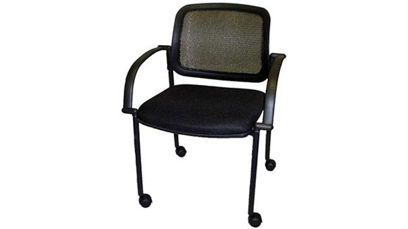 Side & Guest Chairs Marquis Mesh Back Guest Side Chair with Casters