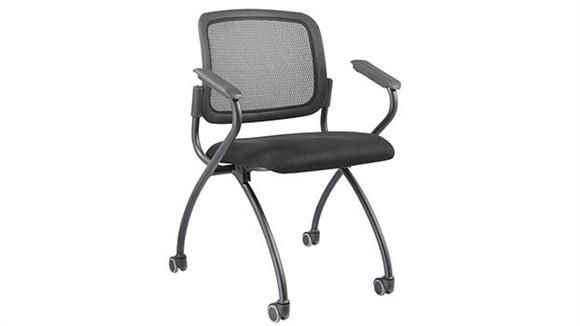 Office Chairs Marquis Mesh Back Nesting Chair with Casters