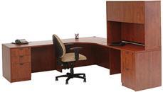 """Corner Desks Marquis 89"""" x 89"""" Corner Desk with Hutch"""