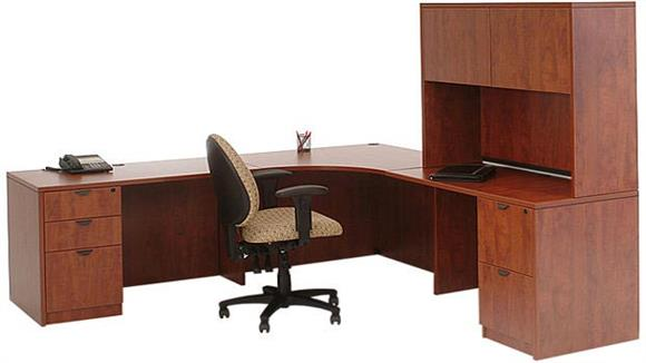 "Corner Desks Marquis 89"" x 89"" Corner Desk with Hutch"