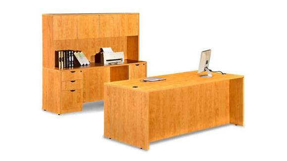 "Executive Desks Marquis 72"" Desk with Credenza and Hutch"