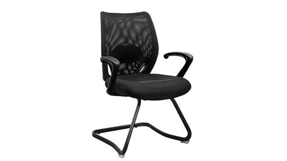 Side & Guest Chairs Marquis Mesh Back Guest Chair with Arms