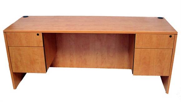 """Office Credenzas Marquis 66"""" Double Pedestal Credenza"""
