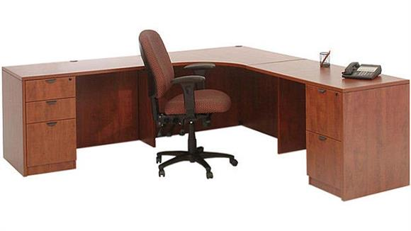 "Corner Desks Marquis 89"" x 89"" Corner Desk"