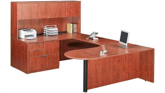 U Shaped Desks Marquis U Shaped Desk with Hutch