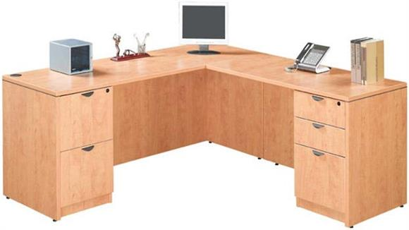 "L Shaped Desks Marquis 71"" x 71"" L Shaped Desk"