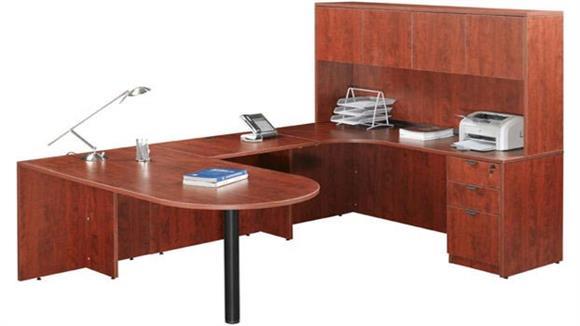 U Shaped Desks Marquis U Shaped Desk with Hutch