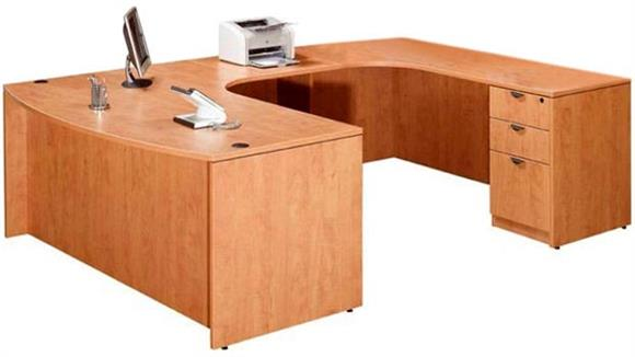 U Shaped Desks Marquis Single Pedestal U Shaped Desk