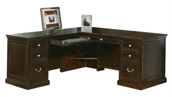 L Shaped Desks Martin Furniture L-Shaped Desk with Left Return