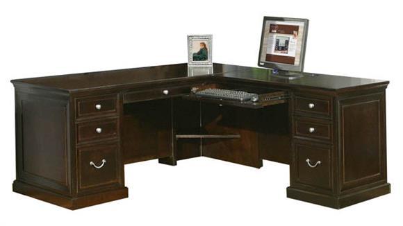 L Shaped Desks Martin Furniture L-Shaped Desk with Right Return