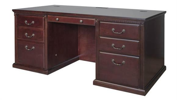 "Executive Desks Martin Furniture 68""W Double Pedestal Executive Desk"