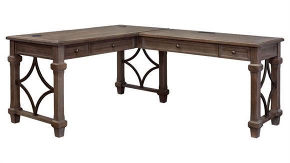"""L Shaped Desks Martin Furniture 60"""" Open L-Shaped Desk"""