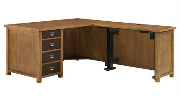 Adjustable Height Desks & Tables Martin Furniture L-Shaped Desk with Stand Up Return