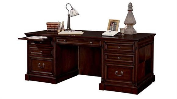"Executive Desks Martin Furniture 74"" Double Pedestal Executive Desk"