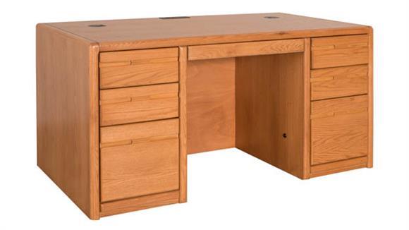 "Executive Desks Martin Furniture 60"" Double Pedestal Desk"