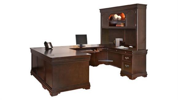 U Shaped Desks Martin Furniture U-Shaped Desk with Hutch