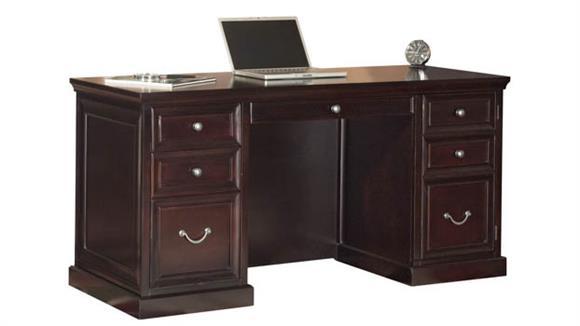 Executive Desks Martin Furniture Space Saver Double Pedestal Desk