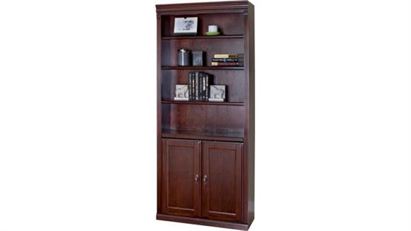 "Bookcases Martin Furniture 72""H x 30""W 4 Shelf Bookcase w/ Doors"