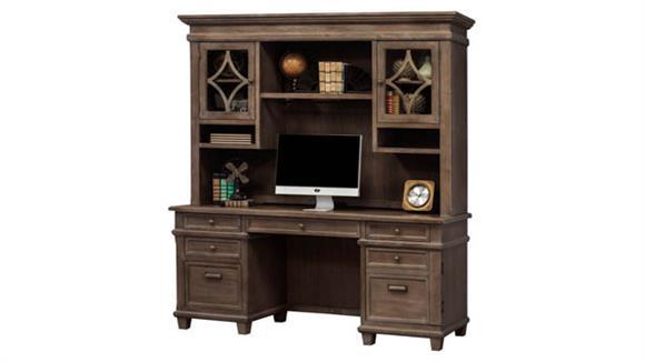 "Office Credenzas Martin Furniture 68"" Credenza with Hutch"