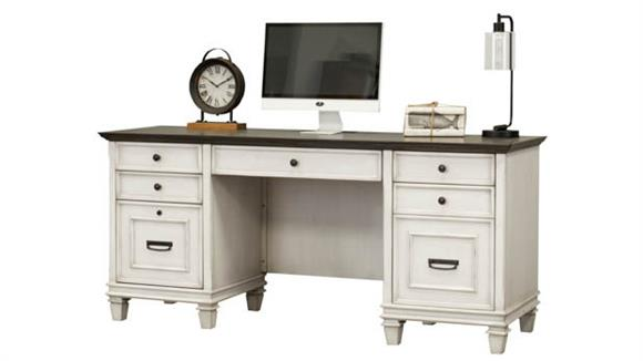 "Executive Desks Martin Furniture 70""W Double Pedestal Desk"