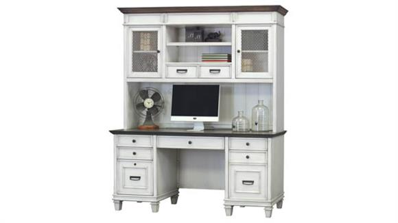 "Office Credenzas Martin Furniture 70""W Credenza with Hutch"