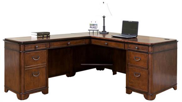 L Shaped Desks Martin Furniture Left Hand Facing L-Shaped Desk