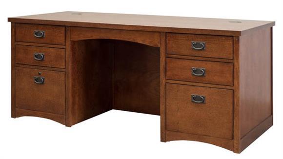 "Executive Desks Martin Furniture 68"" Double Pedestal Executive Desk"