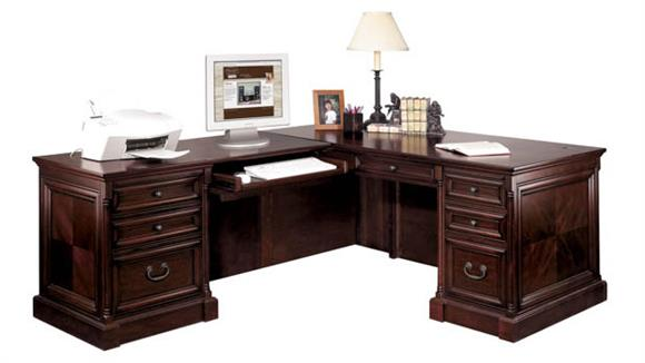 L Shaped Desks Martin Furniture L-Shaped Desk with Left Return