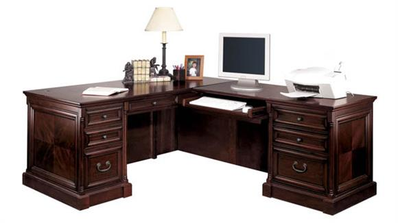 L Shaped Desks Martin Furniture L-Shaped Desk with Right Return