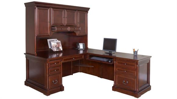 L Shaped Desks Martin Furniture L-Shaped Desk with Hutch and Right Return