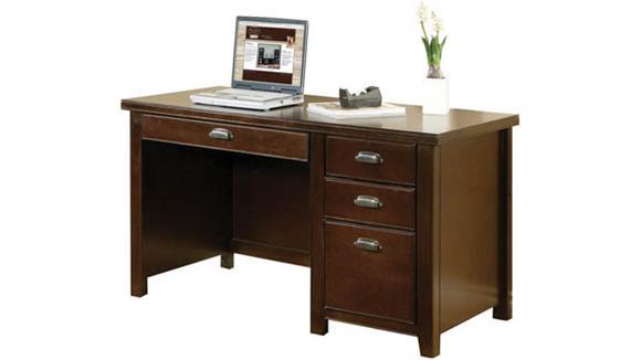 "Executive Desks Martin Furniture 52""W Single Pedestal Desk"