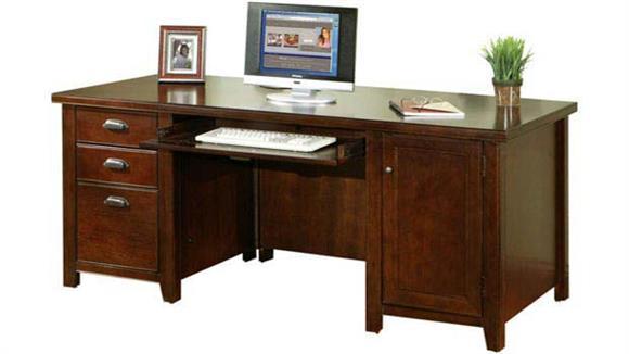 "Computer Desks Martin Furniture 68"" Double Pedestal Computer Desk"