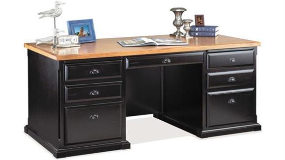Executive Desks Martin Furniture Double Pedestal Executive Desk