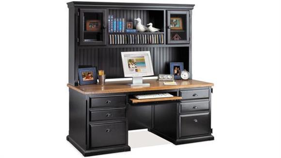 Computer Desks Martin Furniture Double Pedestal Computer Desk with Hutch